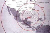 Радиус покрытия ракет, дислоцированных на Кубе.