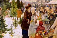 «Рождественский базар». 1906 г. Художник А. Бучкури