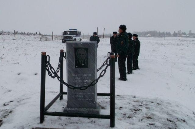 Памятник погибшему милиционеру установили в селе Алтайского края