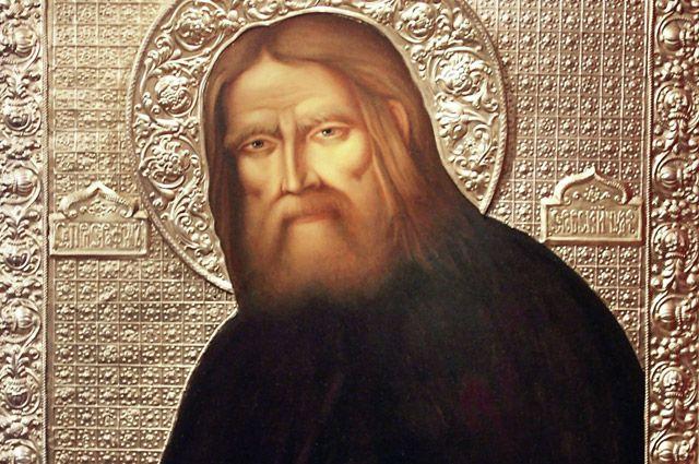 Икона «Преподобный Серафим Саровский».
