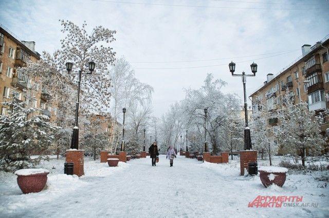 В Омск приходит зима.