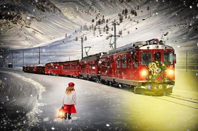 Встречать Новый год в поезде - оригинальная идея.