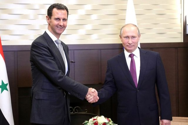 В Сочи прошла встреча Владимира Путина и Башара Асада