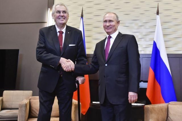 Путин отметил рост товарооборота между Чехией и Россией