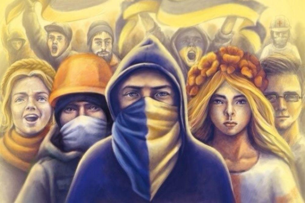 Кроме того, с начала 2016 в Украине историю Евромайдана начали запечатлевать в художественных выставках, галереях и граффити. Так, первые муралы, посвященные Майдану, появились в конце 2015. Была проведена первая открытая выставка художественных работ на Майдане.