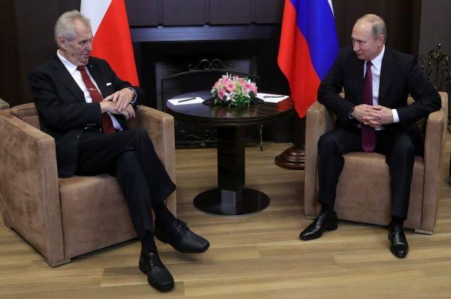 Милош Земан выступил против санкций против России и ответных мер