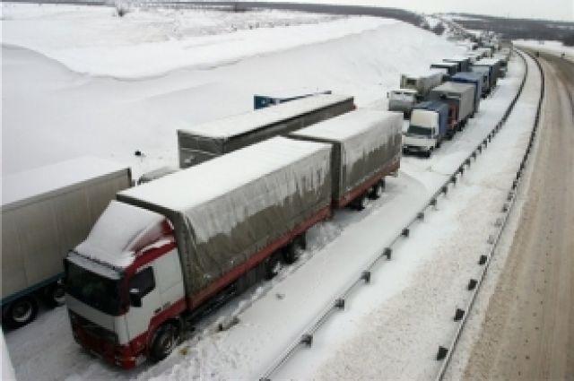Натрассе Р-257 «Енисей» закрыто движение для автобусов и фургонов