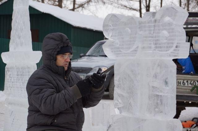 Конкурс ледяных фигур проведут вглавном новогоднем городке Барнаула