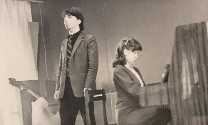 Дмитрий Хворостовский в концертах студентов кафедры общего фортепиано Красноярского государственного института искусств, 1984 - 1985 гг.