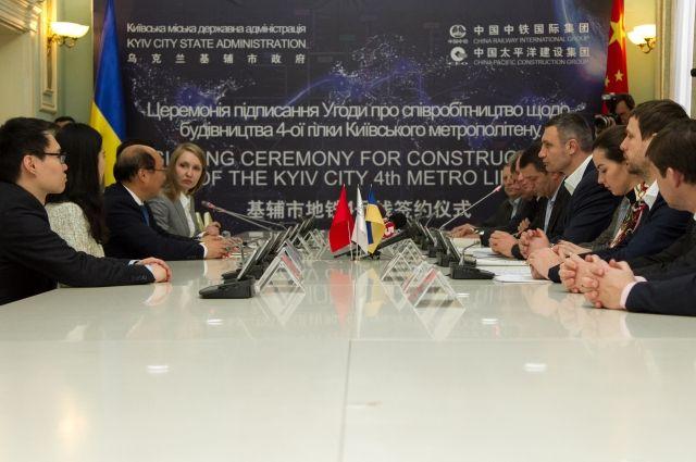 Кличко и китайский консорциум подписали соглашение о строительстве метро