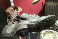 Ботинки солдата вермахта. Экспонаты Аксайского военно-исторического музея.