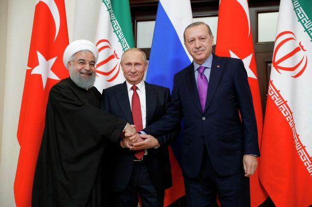 Президенты РФ, Турции иИрана будут усиливать взаимодействие поборьбе сИГ