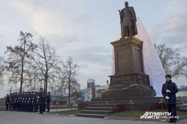 ВЧелябинске состоялось праздничное открытие монумента Столыпину