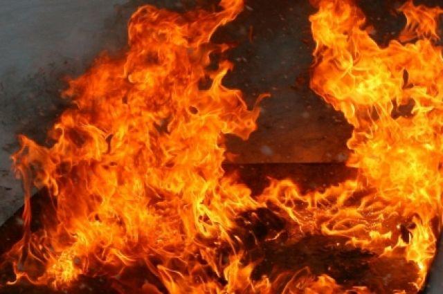Вночном пожаре женщина погибла, ее супруг получил ожоги