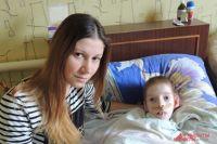 Олеся Тарасова с сыном Степаном.