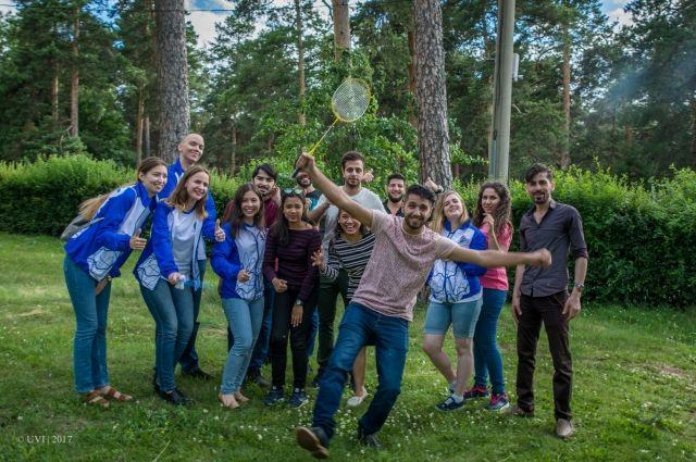 Иностранные студенты и волонтёры из числа российских студентов часто проводят общие мероприятия.