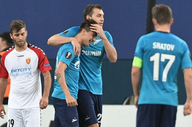 «Зенит» и«Локомотив» победили вдомашних матчах Лиги Европы