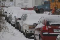 В Омске были большие пробки.