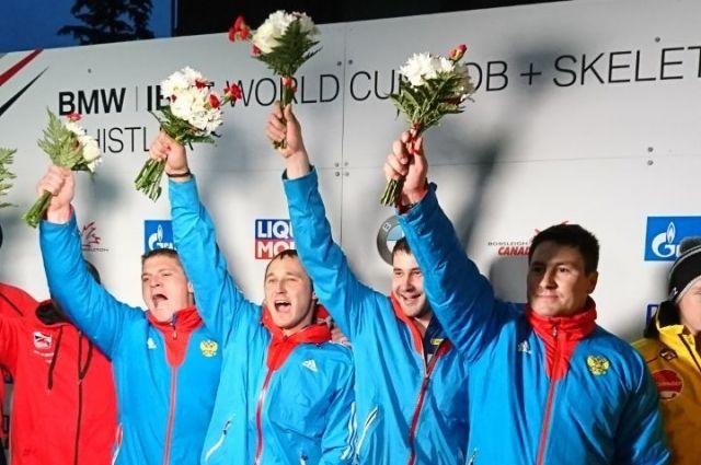 Экипаж Касьянова завоевал золото наэтапеКМ побобслею