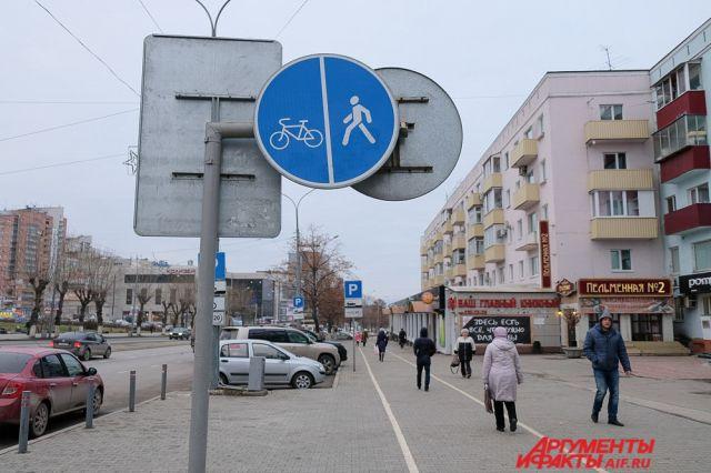Вцентре Петербурга начали исчезать велодорожки, однако ихобещают вернуть