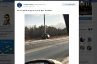В Оренбурге на Объездной машина влетела в столб.