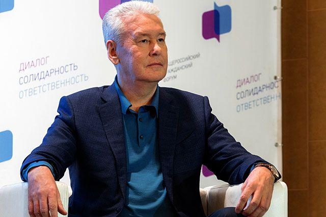 Мэр Москвы Сергей Собянин на V Общероссийском гражданском форуме в Москве.