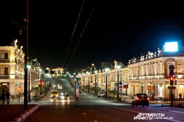 Любинский проспект - одна из самых красивых в Омске улиц.