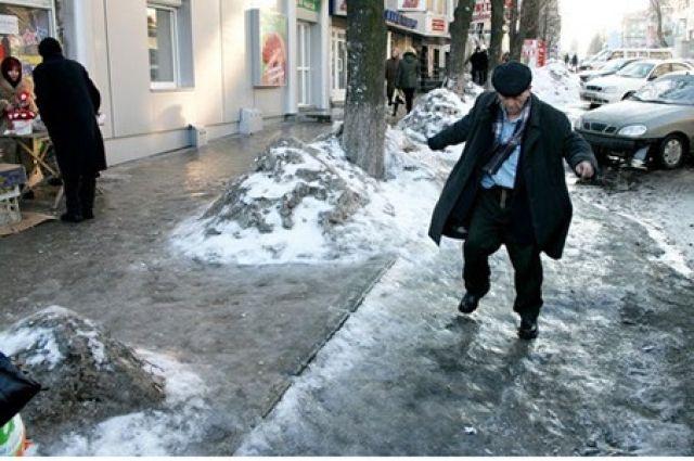 Гололед в Киеве: дороги в столице не подготовлены