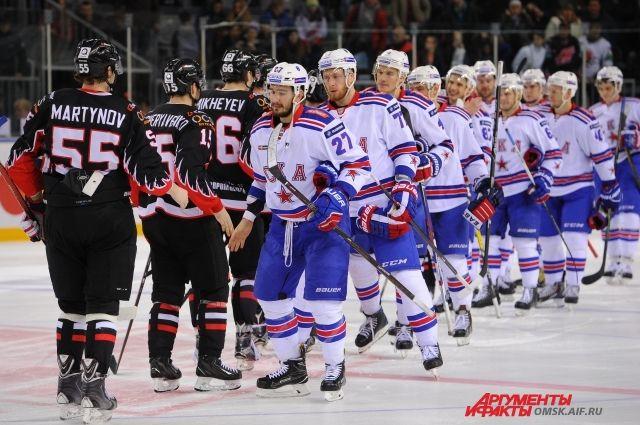 СКА одержал шестую победу подряд, разгромив «Барыс» вматче КХЛ