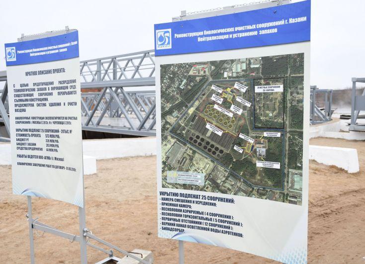Укрытию защитными колпаками подлежат 25 сооружений, стоимость проекта составляет 573 млн. руб.