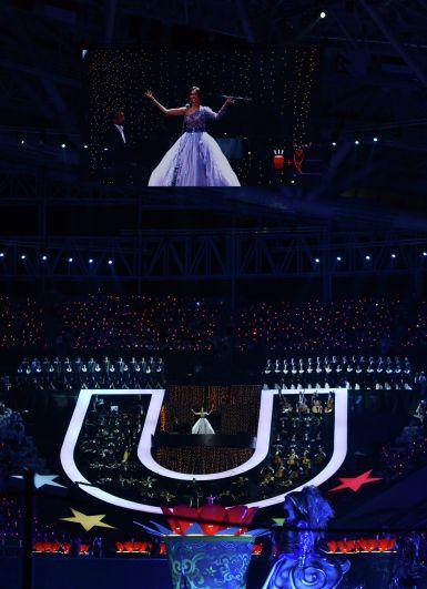 Открытие Универсиады в Казани по размаху было сопоставимо с Олимпиадой. Выступление Аиды Гарифуллиной.