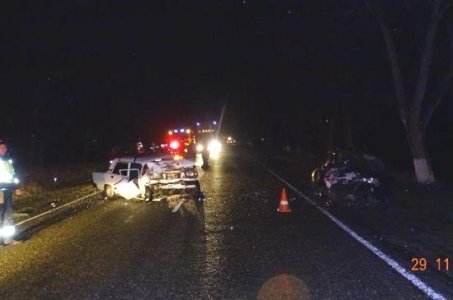 НаСтаврополье шофёр Ауди стал виновником ДТП, пострадали 5 человек