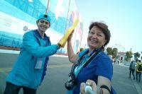 Светлана Матвеева в Сочи на  Всемирном фестивале молодёжи и студентов.