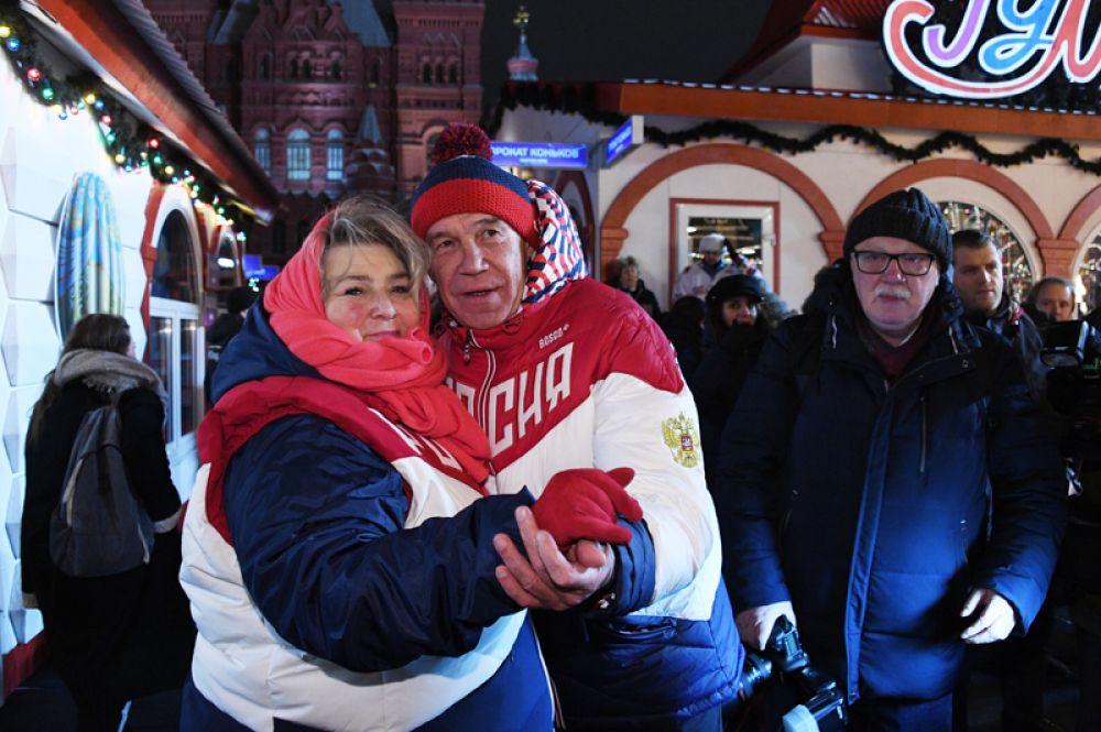 Актер Сергей Гармаш и старший тренер сборной команды РФ по фигурному катанию Татьяна Тарасова.