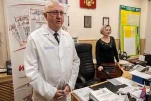 Площадкой для проведения стала приёмная главного врача Чебаркульской центральной районной больницы.