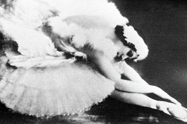 Первая исполнительница «Умирающего лебедя» великая русская балерина Анна Павлова.