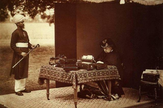 Королева Виктория и Мунши. 1893 г.