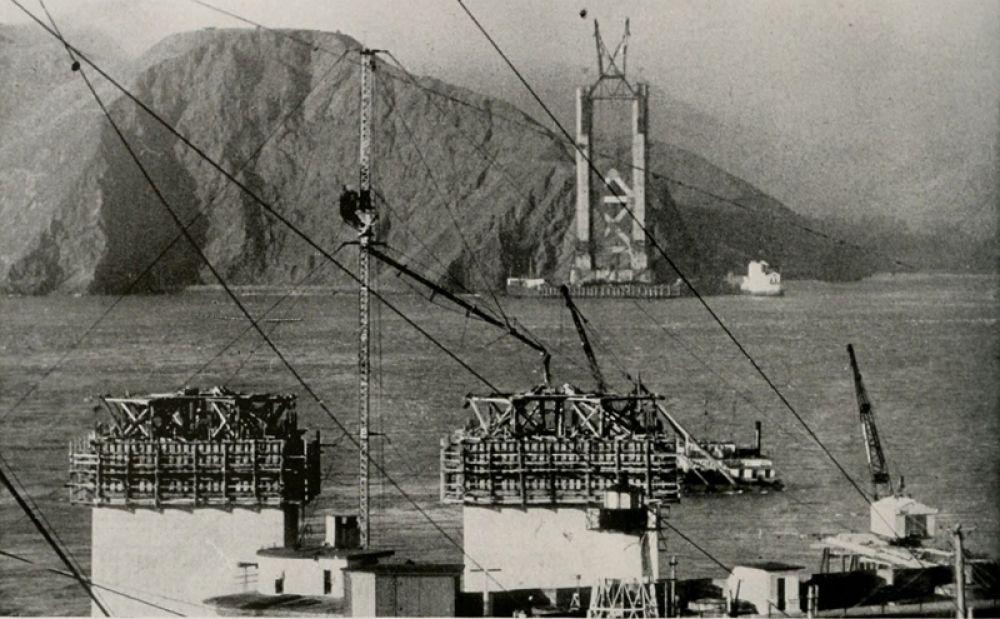 Строительство моста «Золотые ворота». 1933 год.