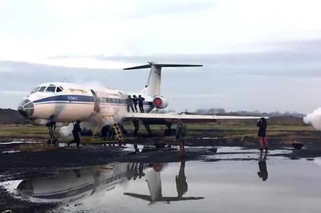Опубликовано видео учебного захвата самолета в Калининграде.