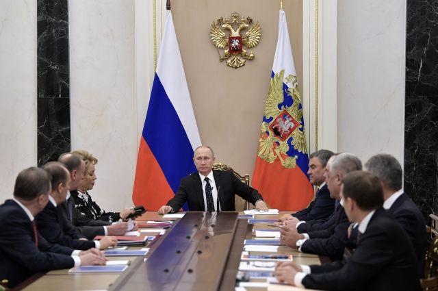 Путин обсудил проблему КНДР счленами Совбеза Российской Федерации