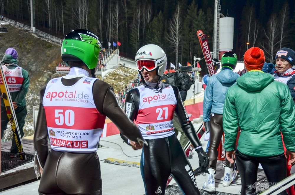 Четырехкратный олимпийский чемпион Симон Аманн (справа).
