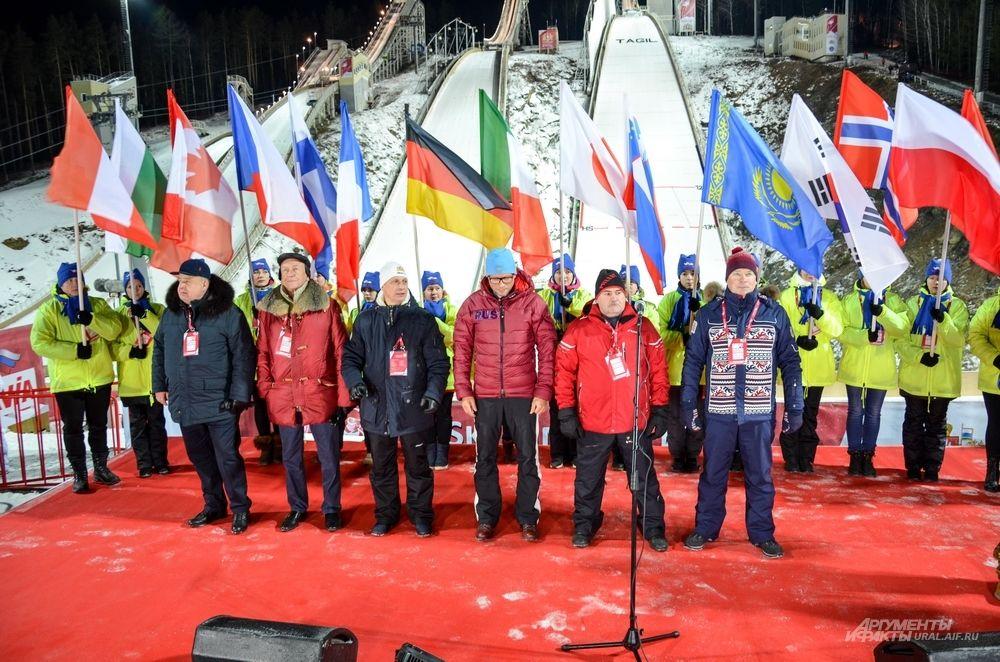 Открытие этапа Кубка мира по прыжкам на лыжах с трамплина в Нижнем Тагиле.
