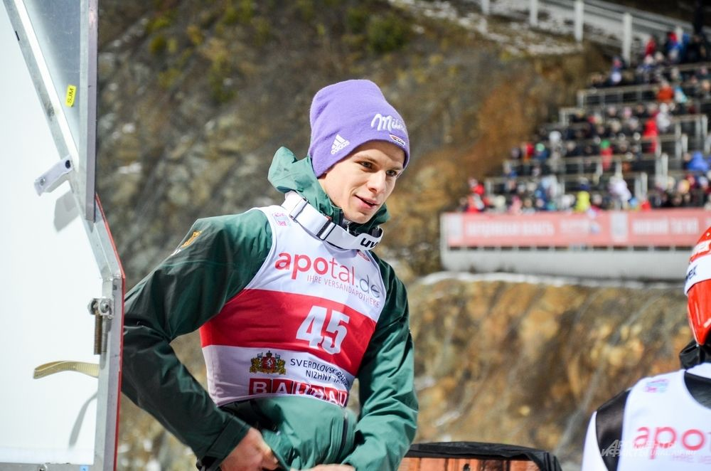 Немецкий прыгун Андреас Веллингер занял четвертое место.