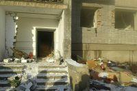 Подъезд пострадавшего дома.