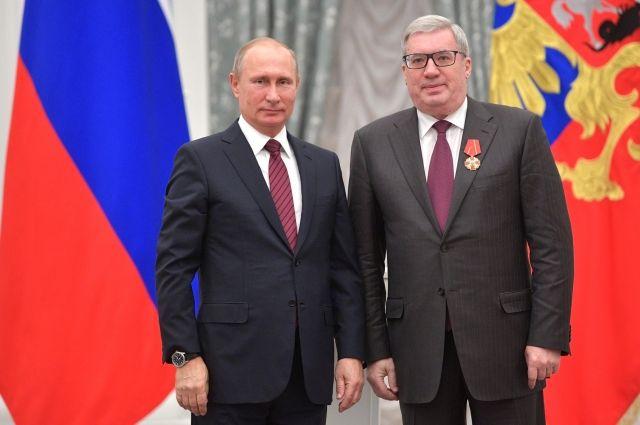 Владимир Путин и Виктор Толоконский
