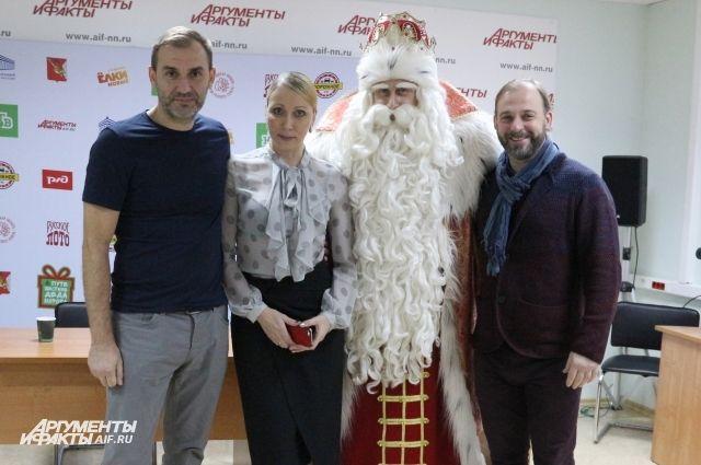 Дед Мороз в гостях у «АиФ-Нижний Новгород».