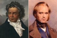 Людвиг ван Бетховен и Чарльз Дарвин.