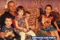 Александр Баранов с детьми.