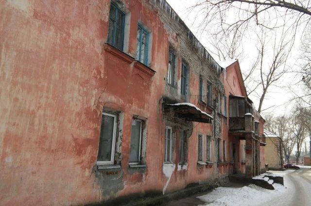 Аварийный дом на ул. Советской Армии