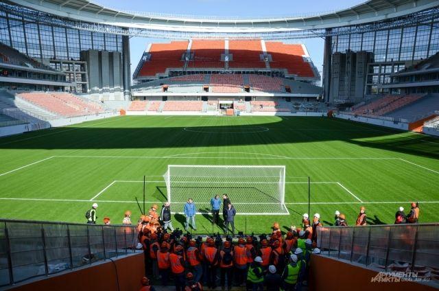 На стадионе «Екатеринбург Арена» посмотреть матчи ЧМ-2018 смогут 35 000 человек. Такова его вместительность.